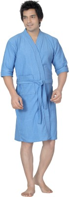Sand Dune Gents Bathrobe Blue Bath Robe Blue