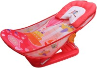 Ole Baby Boat Helicopter Seater Aqua Animal Print Soft Fabric Cradle Baby Bather 0 To 6 Months Baby Bath Seat (Peach)