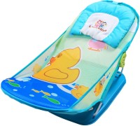 Ole Baby Duck Aqua Animal Seater Print Soft Fabric Cradle Baby Bather 0 To 6 Months Baby Bath Seat (Blue)