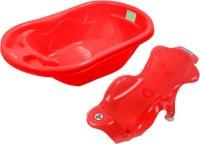 Sunbaby Bathtub With BathSling Baby Bath Seat (Red)