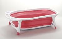Baby Bucket Folding Baby Bath Tub For Infant Bathing Baby Bath Seat (Pink)