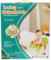 Planet Of Toys Baby 2 In 1 Sit Snack Bath & Go Seat Chair Baby Bath Seat (Multicolor)