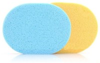 Out Of Box High Quality Natural Seaweed Facial Cleaning Wash Pad Puff Sponge(Set Of 2)