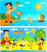 Chota Bheem Cotton Bath Towel Chota Bheem Bath Towel Combo Set Of 2 Pcs, Blue