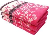 Mandhania Cotton Set Of Towels 3 Bath Towel, Pink