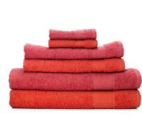 Swiss Republic Cotton Set Of Towels 2 Bath Towels, 2 HandTowels, 2 Face Towels, Pink, Orange