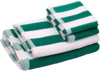 Skumars Love Touch Cotton Bath & Hand Towel Set 2 Bath Towels And 2 Hand Towels, Green