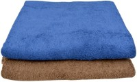 ShwetaInternational Cotton Bath Towel Set Of 2 Cotton Bath Towels, Blue, Cream