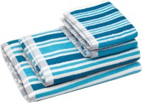 Skumars Love Touch Cotton Bath & Hand Towel Set 2 Bath Towels And 2 Hand Towels, Turquoise Blue
