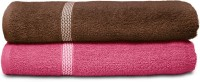 Swiss Republic Cotton Bath Towel (2 Bath Towels, Dark Brown, Dark Pink)