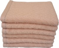 Divine Overseas Cotton Hand Towel Set 6 Pieces Premium Hand Towel, Beige