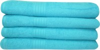 Bombay Dyeing Cotton Bath Towel Set 4 Large Size Bath Towel, Blue