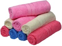 Eurospa Cotton Terry Face Towel Set (8 PIECE FACE TOWEL SET, Assorted)