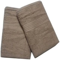 ShopSince Cotton Bath Towel ShopSince Set Of 2 Beige Cotton Bath Towels, Beige