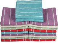 Eurospa Cotton Terry Face Towel Set (20 PIECE FACE TOWEL SET, Assorted)