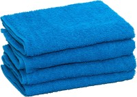Skumars Love Touch Cotton Hand Towel Set 4 Hand Towels, Mid Blue
