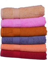 GRJ INDIA Cotton Bath Towel Set Of 6 Bath Towels, Multicolor - BTWEDP4MZV8YFGYZ