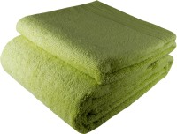 Stylefolio Cotton Bath & Hand Towel Set Set Of Bath Towel And Hand Towel, Light Green