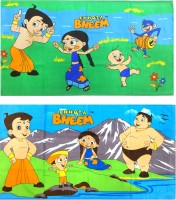 Chhota Bheem Cotton Bath Towel Chota Bheem Bath Towel Combo Set Of 2 Pcs, Blue