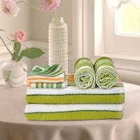 Cortina Cotton Bath, Hand & Face Towel Set 2PC Hand Towel Set, 2PC Bath Towel Set, 2PC Face Towel Set, Green