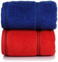 CLOTH FUSION Cotton Hand Towel Set Of 2 Hand Towels, Multicolor
