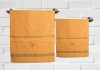 Fantasy Home Decor Nature Cotton Bath Towel Set Set Of 2 Bath Towel, Orange