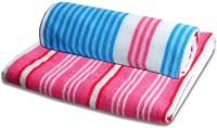 ShopSince Cotton Bath Towel ShopSince Stripes Design Bath Towels Set Of 2, Multicolor