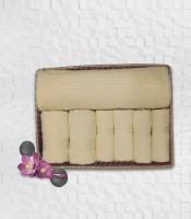 Stellar Home USA Cyrstal Cotton Bath, Hand & Face Towel Set 1 Bath Towel & 2 Hand Towel & 4 Face Towel, Yellow