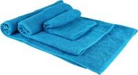 JCT Homes Cotton Bath, Hand & Face Towel Set 1 Bath Towel, 2 Hand Towel, 1 Medium Towel, Blue