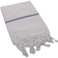 SEVEN STARS Cotton Bath Towel Bath Towel, White & Blue