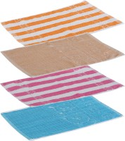 Goodway Stripes Cotton Hand Towel Pack Of 4 Gym Towel, Brown