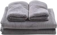Homeway Cotton Bath & Hand Towel Set Bath & Hand Towel Set, Grey