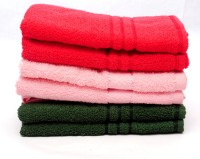 The Home Story Red, Pink, Green Set Of 6 Napkins