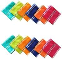 ShopSince Cotton Face Towel Multicolour Plain Cotton Face Towel - Set Of 12, Multicolor