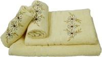 Sassoon Cotton Bath & Hand Towel Set 2 Hand Towels, 1 Male Bath Towel, 1 Female Bath Towel, Lemon