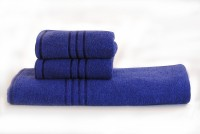 Trident Cotton Bath & Hand Towel Set 1 Bath, 2 Hand Towel, Blue