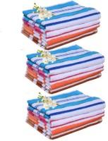 Xy Decor Cotton Hand Towel Set Of 12, Multicolour