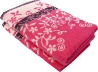Mandhania Cotton Set Of Towels 2 Bath Towel, Pink