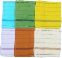 Mikado Face Towels Cotton Face Towel 24 Face Towels, 4 Pieces Of Each Colour, Multicolor