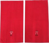 Kairan Jaipur Cotton Bath & Face Towel Set Bath Towel, Face Towel, Red