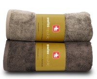 Swiss Republic Cotton Bath Towel Set 2 Bath Towel, Brown, Light Brown