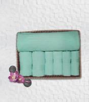 Stellar Home USA Cyrstal Cotton Bath, Hand & Face Towel Set 1 Bath Towel & 2 Hand Towel & 4 Face Towel, Blue
