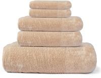 Cortina Cotton Bath, Hand & Face Towel Set 1 Towel, 2 Face Towel, 2 Hand Towel, Brown