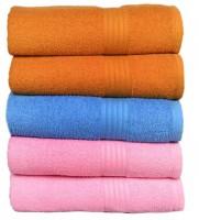 GRJ INDIA Cotton Bath Towel Set Of 5 Bath Towels, Blue