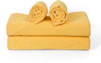 Cortina Cotton Bath & Hand Towel Set 2PC Hand Towel Set, 2PC Bath Towel Set, Yellow