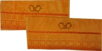 Kairan Jaipur Cotton Bath & Face Towel Set Bath Towel, Face Towel, Orange
