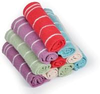Eurospa Cotton Terry Face Towel Set (10 Pieces Face Towel Set, ASSORTED)