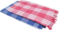 Suam Cotton Bath Towel Pack Of 2 Bath Towel, Blue, Pink