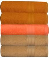 GRJ INDIA Cotton Bath Towel Set Of 5 Bath Towels, Multicolor