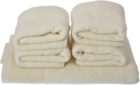 Homeway Cotton Bath & Hand Towel Set Bath & Hand Towel Set, Yellow